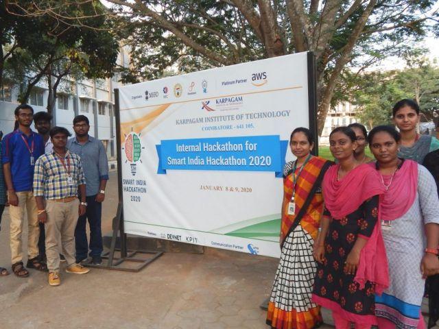 Karpagam Institute of Technology (KIT) - Internal Hackathon 2020