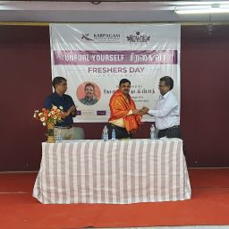 Karpagam Institute of Technology - Freshers Day Event Guest Welcoming