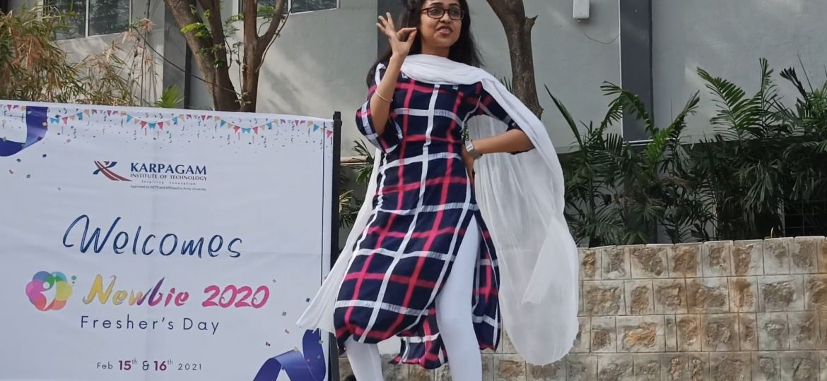 Karpagam Institute of Technology - Newbie Freshers Welcome Event 2021 Dance